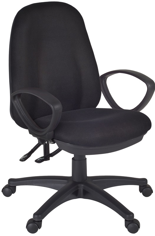 Momentum Height Adjustable Task Chair With Casters Black Fabric 2503BK By
