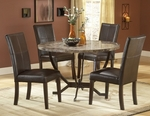 Monaco 5 Piece Dining Set with Table and 4 Faux Leather Chairs - Matte Espresso [4142DTBC-FS-HILL]