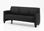 Monaco Contemporary Lounge Sofa - Black Simulated Leather [CD001305B5000-FS-DMI]