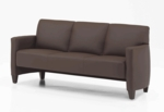 Monaco Contemporary Lounge Sofa - Java and Brown Simulated Leather [CD001305B5070-FS-DMI]