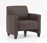 Monaco Contemporary Side Chair - Java and Brown Simulated Leather [CD001105B5070-FS-DMI]