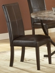 Monaco Faux Leather Upholstered 19''H Parson Chair with Seat - Set of 2 - Matte Espresso [4142-802-FS-HILL]