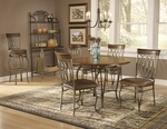 Montello 45'' Diameter Round Metal Dining Table - Old Steel [41541DTB45-FS-HILL]
