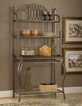 Montello Metal and Wood 40''W x 72.25''H Baker's Rack - Old Steel [41548-FS-HILL]