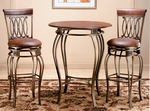 Montello 34'' Diameter Round Wood and Metal Bar Height Dining Table - Old Steel [41550PTB-FS-HILL]