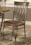 Montello Metal 18''H Dining Chair with Vinyl Seat - Set of 2 - Old Steel [41543-FS-HILL]