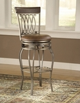 Montello Swivel Bar Stool - Brown Faux Leather [41545-FS-HILL]