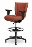 Monterey II 300 Series Medium Back Single Shift Adjustable Swivel and Seat Height Stool [MO221-M20-FS-SEA]