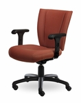 Monterey II 300 Series Medium Back Single Shift Adjustable Swivel and Seat Height Task Chair [MO211-M20-FS-SEA]
