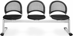 Moon 3-Beam Seating with 3 Fabric Seats - Black [333-2224-MFO]