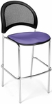 Moon Cafe Height Chair with Fabric Seat and Chrome Frame - Lavender [338C-2202-MFO]