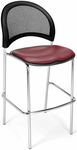 Moon Cafe Height Chair with Vinyl Seat and Chrome Frame - Wine [338C-VAM-603-MFO]