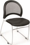 Moon Stack Chair with Vinyl Seat Cushion - Black [335-VAM-606-MFO]