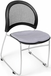 Moon Stack Chair with Fabric Seat Cushion - Putty [335-2218-MFO]