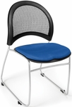 Moon Stack Chair with Fabric Seat Cushion - Royal Blue [335-2210-MFO]