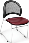 Moon Stack Chair with Vinyl Seat Cushion - Wine [335-VAM-603-MFO]