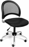 Moon Swivel Chair with Vinyl Seat - Black [336-VAM-606-FS-MFO]
