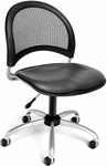 Moon Swivel Chair with Vinyl Seat - Charcoal [336-VAM-604-FS-MFO]
