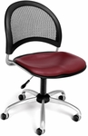 Moon Swivel Chair with Vinyl Seat - Wine [336-VAM-603-FS-MFO]