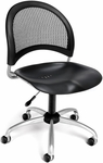 Moon Swivel Plastic Chair - Black [336-P-BLK-FS-MFO]