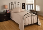 Morris Heavy Gauge Metal Bed Set with Rails - Twin - Magnesium Pewter [1545BTWR-FS-HILL]