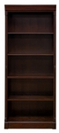 kathy ireland Home™ Mount View Collection 30''W x 72''H Bookcase - Cobblestone Cherry [MV3072-FS-KIMF]