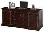 kathy ireland Home™ Mount View Collection 72''W x 31.5''H Computer Credenza - Cobblestone Cherry [MV729-FS-KIMF]
