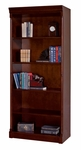 kathy ireland Home™ Mount View Collection 33.5''W x 79''H Open Bookcase - Cobblestone Cherry [MV3479-FS-KIMF]