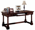 kathy ireland Home™ Mount View Collection 66''W x 30''H Writing Table - Cobblestone Cherry [MV384-FS-KIMF]