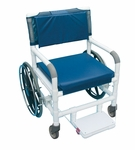 Non-Magnetic Self Propelled Aquatic/Rehab Transport Chair with Casters - 29''W X 33''D X 40''H [131-18-24W-MRI-MJM]