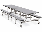 MTB Series 12'L Mobile Folding Bench Table with 17''H Bench Seating [MTB172912-VCO]
