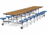 MTS Series 12'L Mobile Folding Table with 15''H Stools - Seats 16 [MTS15271216-VCO]