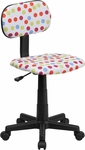 Multi-Colored Dot Printed Swivel Task Chair [BT-D-MUL-GG]