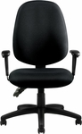 Multi-Function Fabric Chair with Ratchet Back Adjustment - Black [OTG11613B-QL10-FS-GLO]