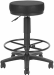 Anti-Microbial and Anti-Bacterial Vinyl UtiliStool with Drafting Kit - Black [902-VAM-DK-606-FS-MFO]