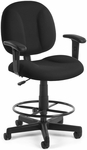 Comfort Superchair with Arms and Drafting Kit - Black [105-AA-DK-805-FS-MFO]