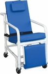 Standard 3-Position Recline Geriatric Chair with Casters [518-SL-MJM]