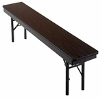 Customizable Multi-Purpose Fixed Height Foldable Bench - 12''W x 48''D x 18''H [161-P-BKS]