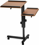 Multi-Purpose Split Level Laptop Stand - Cherry Platforms on Black Frame [LCS100-A45B-FS-MFO]