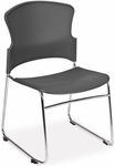 Multi-Use Stack Chair with Plastic Seat and Back - Gray [310-P-A01-MFO]