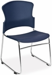Multi-Use Stack Chair with Plastic Seat and Back - Navy [310-P-A11-MFO]