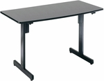 23.75'' D x 47.25'' W Multi-Use Modular Table - Graphite Finish [55111-GRPT-FS-MFO]