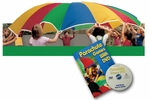 Lightweight Super Strong Nylon Multicolored Panel Parachute [PH-6-FS-KIN]