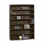 Wooden 43''H Multimedia Storage Tower with 6 Adjustable Shelves - Cinnamon Cherry [409110-FS-SRTA]