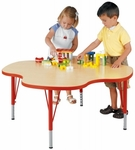 My Place 14'' to 23''H Clover Round Play Activity Table Adjustable Height [9438R-TOT]
