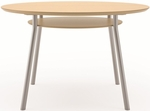 Mystic Series 36'' Round Conference Table with Shelf [S1936K4-FS-RO]