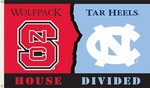 N. Carolina - Nc State 3' X 5' Flag with Grommets - Rivalry House Divided [95817-FS-BSI]