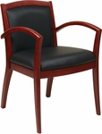 OSP Furniture Napa Guest Chair with Full Cushion Back - Cherry [NAP97CHY-EC3-FS-OS]