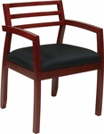 OSP Furniture Napa Guest Chair with Wood Back - Cherry [NAP91CHY-3-FS-OS]