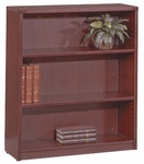 OSP Furniture Napa 3-Shelf Bookcase - Mahogany [NAP-55-MAH-FS-OS]